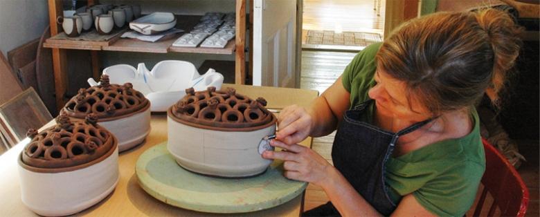 Joan Bruneau Studio Potter Lunenburg Nova Scotia Work
